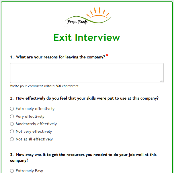 Formwize Examples – Interview Consent Form