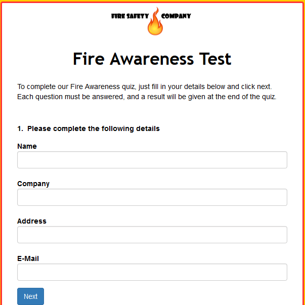 Fire Awareness Test