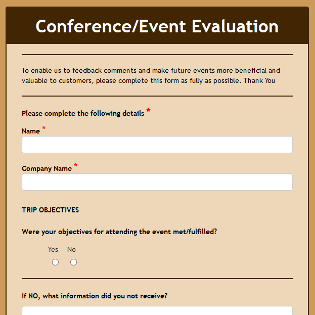Event Feedback Form | Event Feedback Form Sample Event Feedback Forms 8 Free Documents In