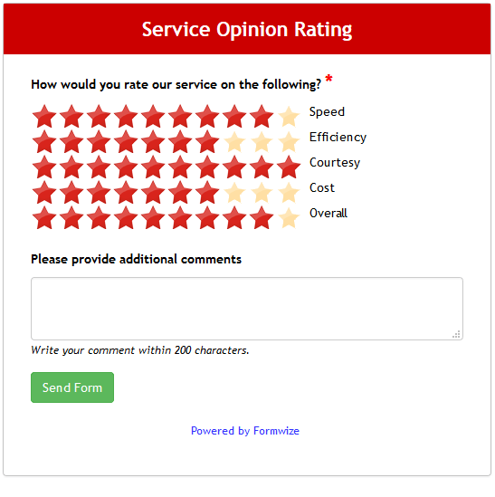 Simple Service Rating