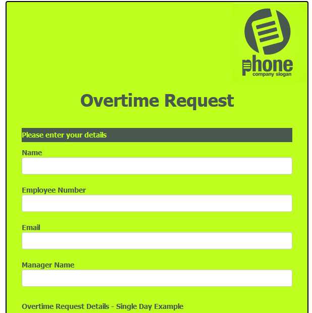 Overtime Request